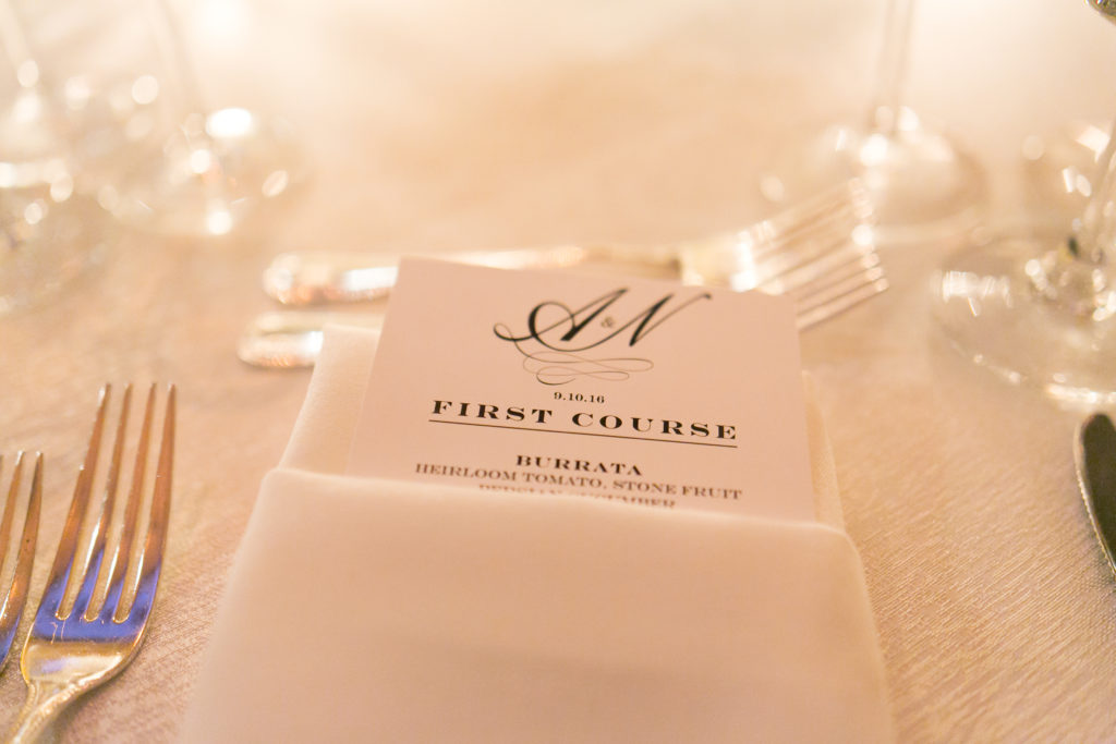gotham hall wedding table cards