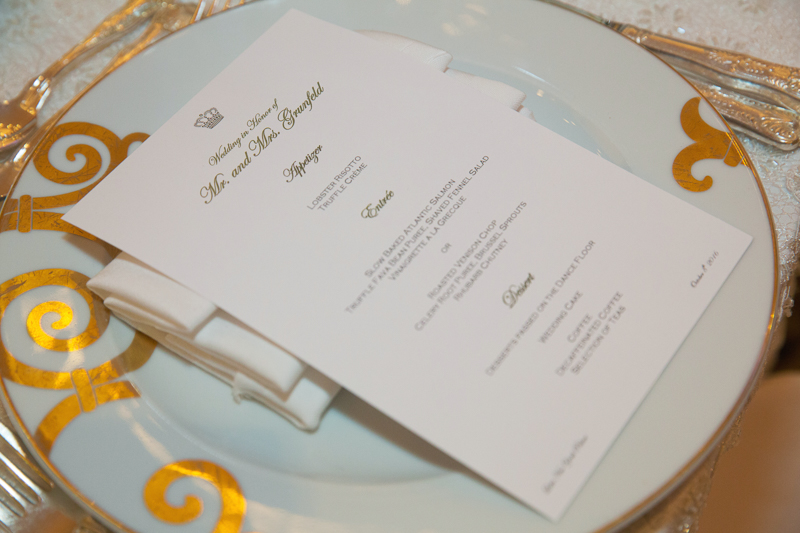 lotte new york palace wedding reception