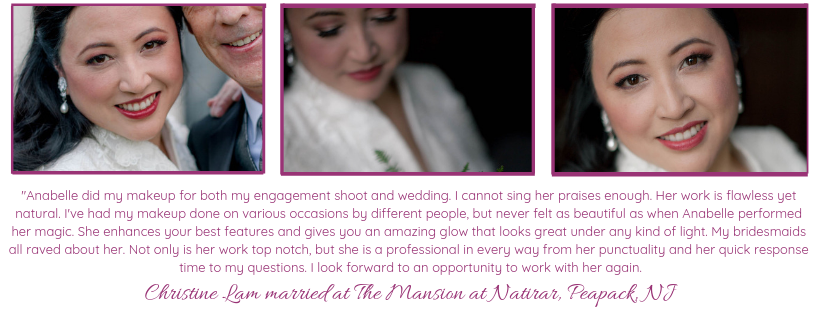 Mansion at Natirar wedding makeup