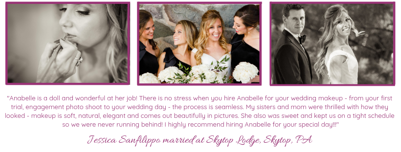 Skytop Lodge wedding makeup